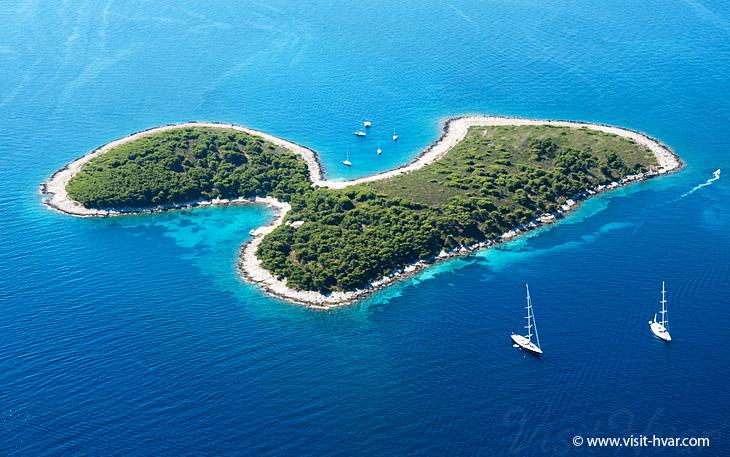 Island Jerolim nearby the island Hvar, Dalmatia, Croatia
