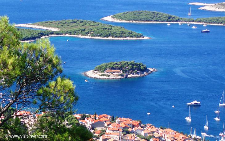 Island Galešnik nearby the island of Hvar, Dalmatia, Croatia