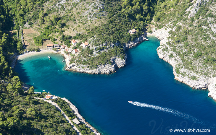 Bay Mala Stiniva near village Poljica on the island Hvar, Dalmatia, Croatia