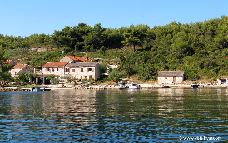 Bay Mostir on the island Šćedro near the island Hvar, Dalmatia, Croatia