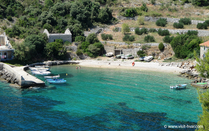 Bay Srhov Dolac near village Gdinj on the island Hvar, Dalmatia, Croatia