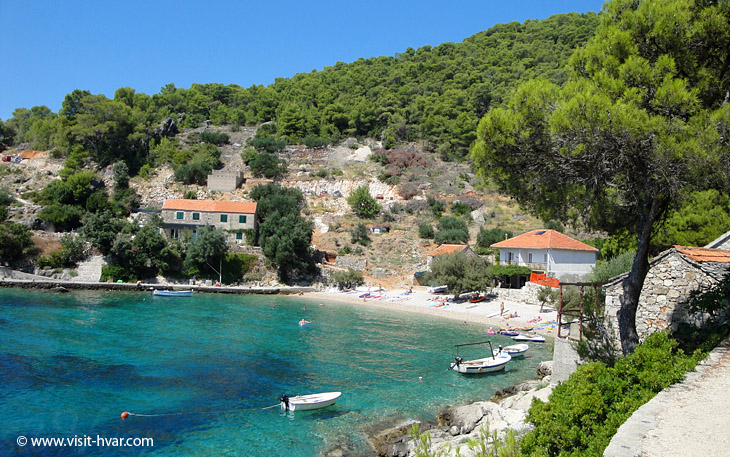 Bay Torac near village Gdinj on the island Hvar, Dalmatia, Croatia