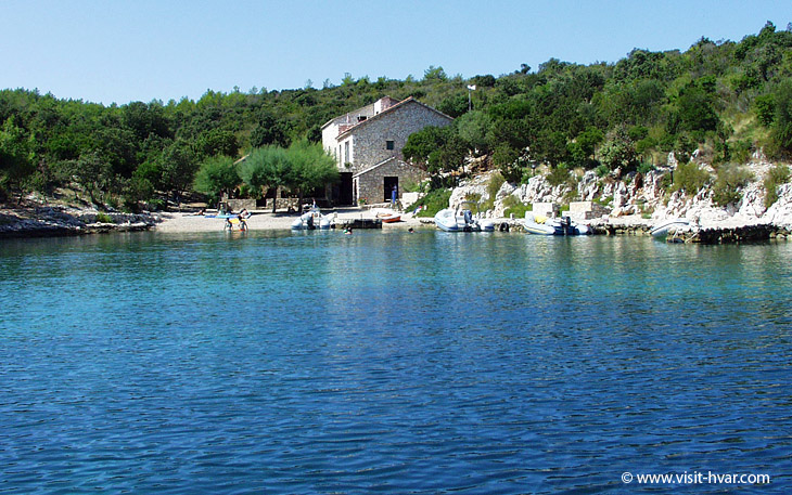 Bay Veli Porat on the island Šćedro near the island of Hvar, Dalmatia, Croatia