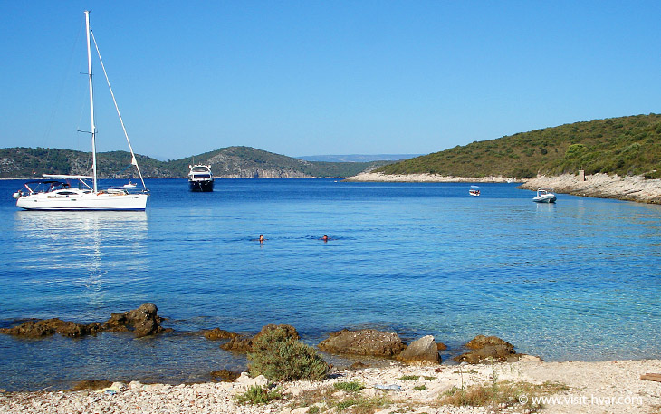 Vlaka bay nearby the island Hvar, Dalmatia, Croatia
