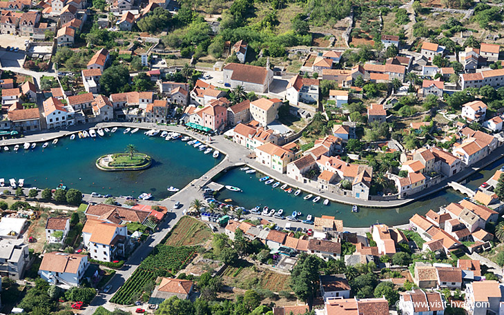 Vrboska on the Island of Hvar in middle Dalmatia, Croatia