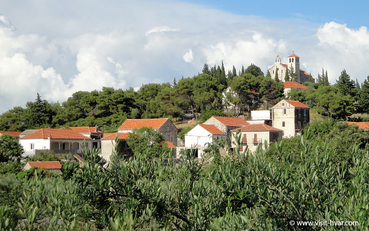Zastražišće on the island Hvar, Dalmatia, Croatia