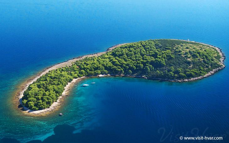 Island Zečevo nearby the island Hvar, Dalmatia, Croatia