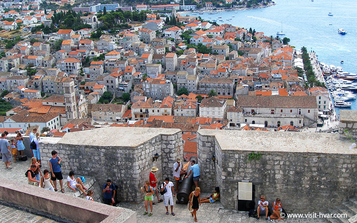 Fortica Fortress, located over the northern part of Hvar town