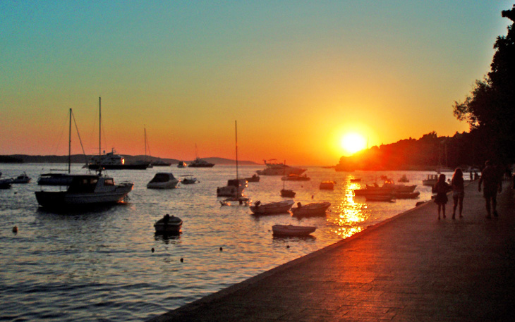 Hvar town sunset