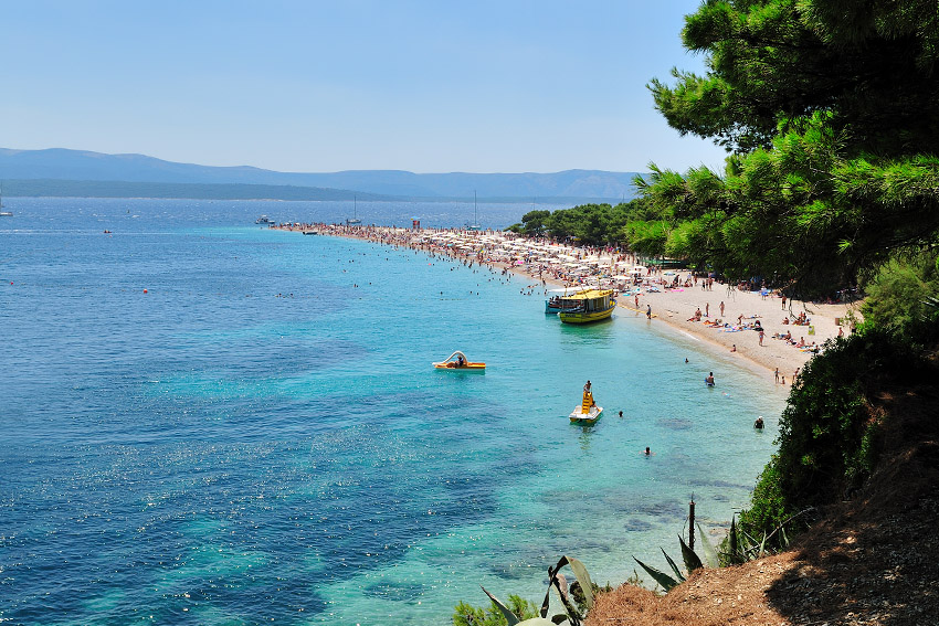 Zlatni Rat (Golden Cape) beach on the island of Brač