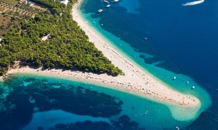 Golden Cape beach on the island of Brač