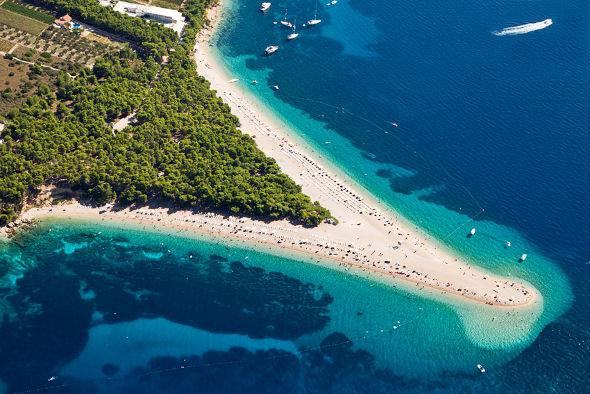 Golden Cape beach on the island of Brač