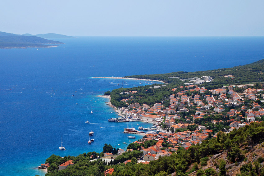 Bol is situated at the foot of Vidova gora, the highest peak of the Adriatic islands