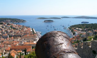 View from the Fortress Fortica Španjola, Hvar town