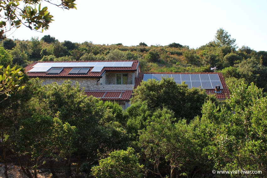 "Tavern ""Kod Ive"" Island of Šćedro - Enough electricity is provided by huge solar panels on the roof of the house."