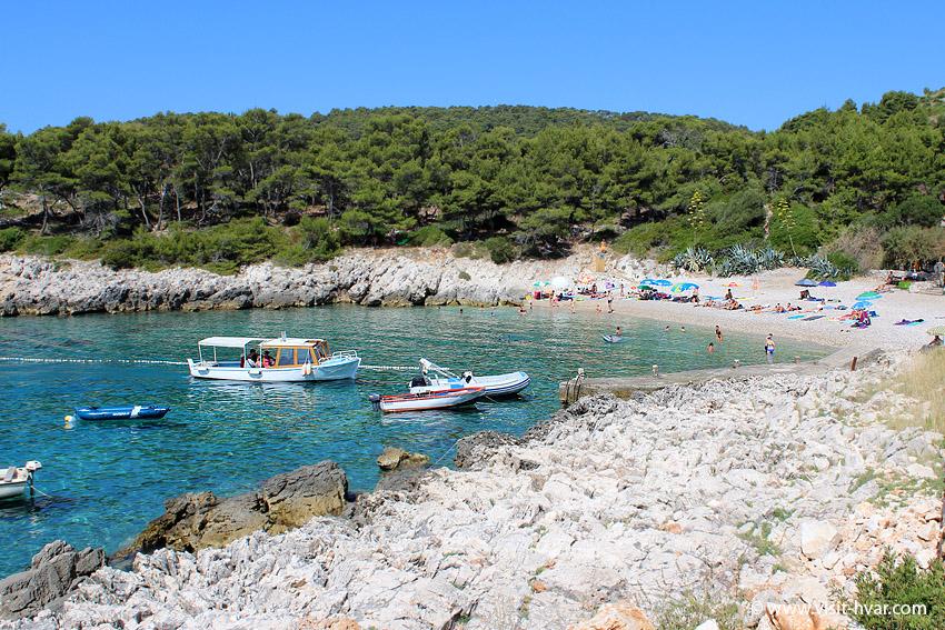 Plaże na wyspie Hvar - Milna