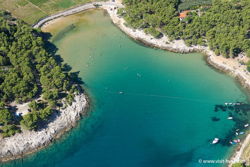 The beaches of the island of Hvar - Mina beach