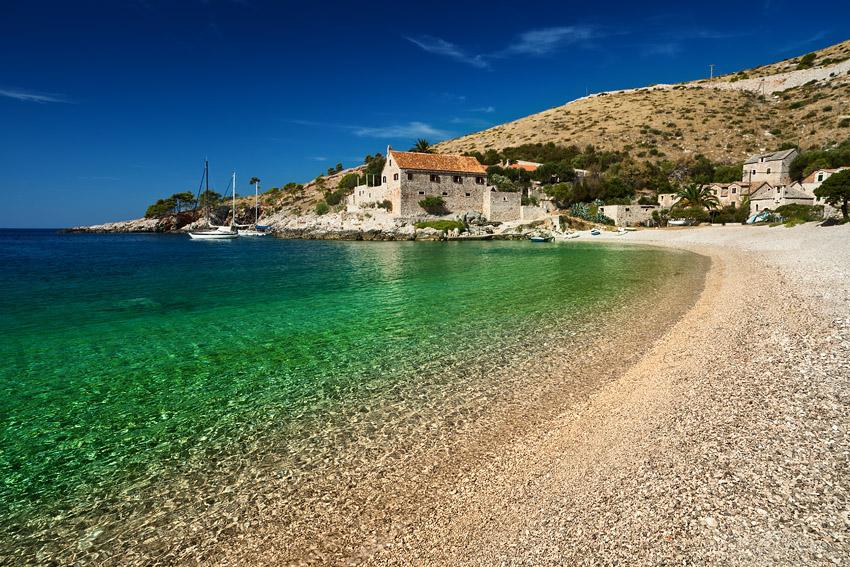The beaches of the island of Hvar - Dubovica beach