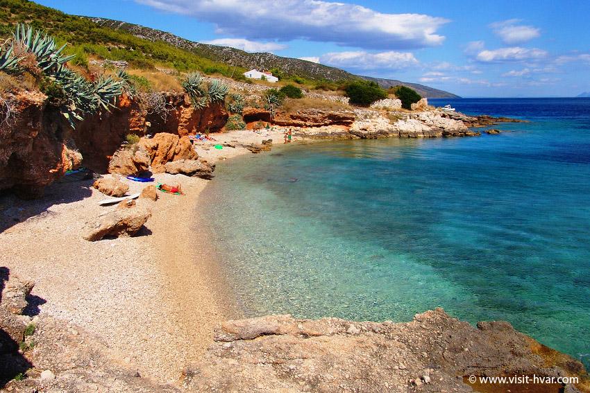 The beaches of the island of Hvar - Gromin Dolac
