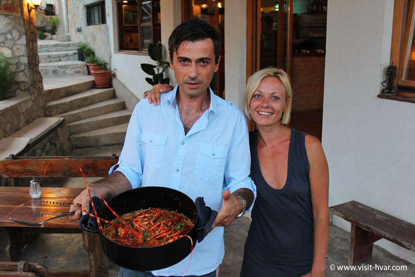 "Restaurant Zorače – house speciality ""Lobster a la Zorace"""