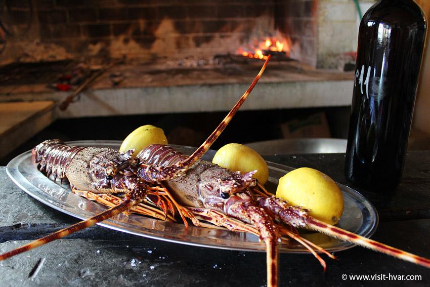 "Restaurant Zorače - house speciality ""Lobster a la Zorace"""